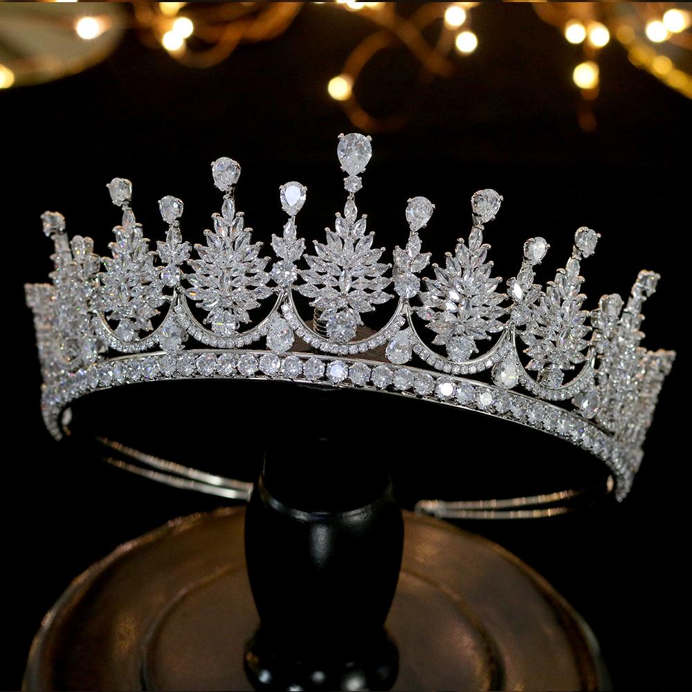 COOLSTEELANDBEYOND Champ/án Oro Cristal Rhinestones Cluster Floral Cabello Aro Diadema Bandas Bandana Cabeza Cabello Corona Nupciales Prom