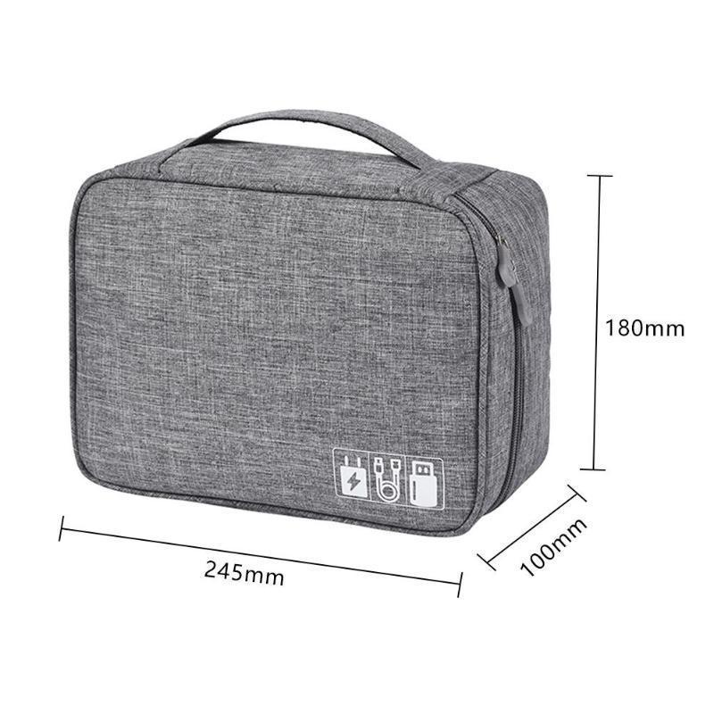 Portable Waterproof Travel Data Cable Storage Bag For Digital Usb Gadget Cosmetic Hard Drive Bag Case Makeup Organizer Bag