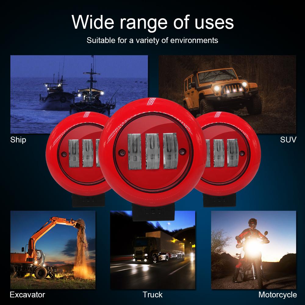 9V 24V Spot Light For Boat Work Light 6000lm 6000k 30W Led Werklamp Barra Led Offroad For Wheel Loaders ATV Project Vehicle a3