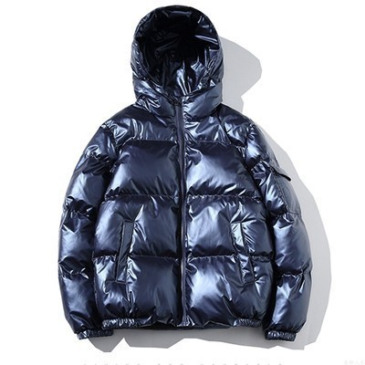JYZJ Men Mid Length Hoodie Thicken Casual Down Quilted Coat Jacket Outwear