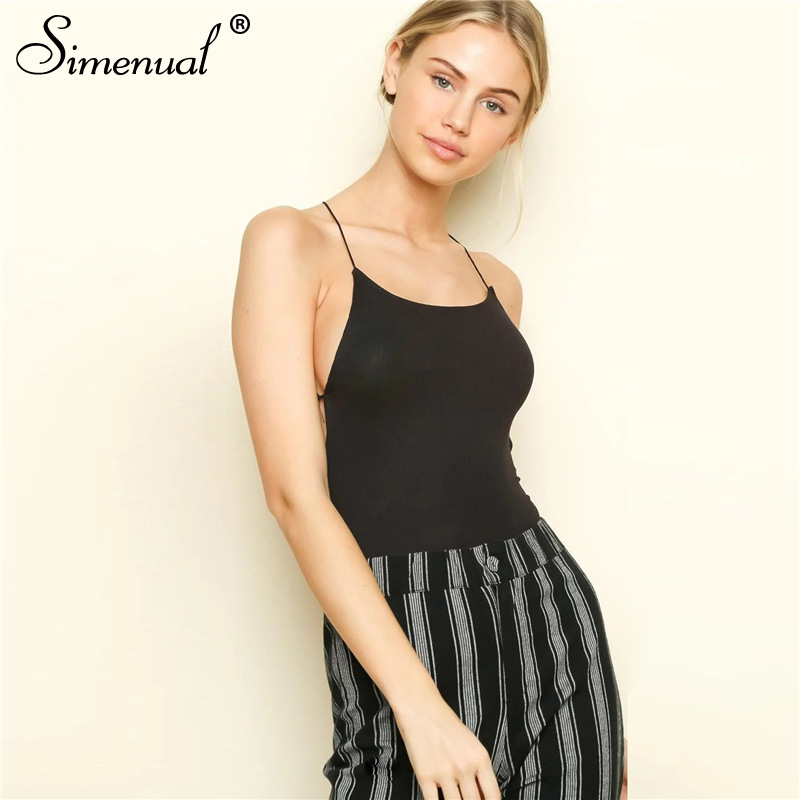 backless sleeveless summer bodysuit sexy hot one piece overalls criss cross strap play suit(4)