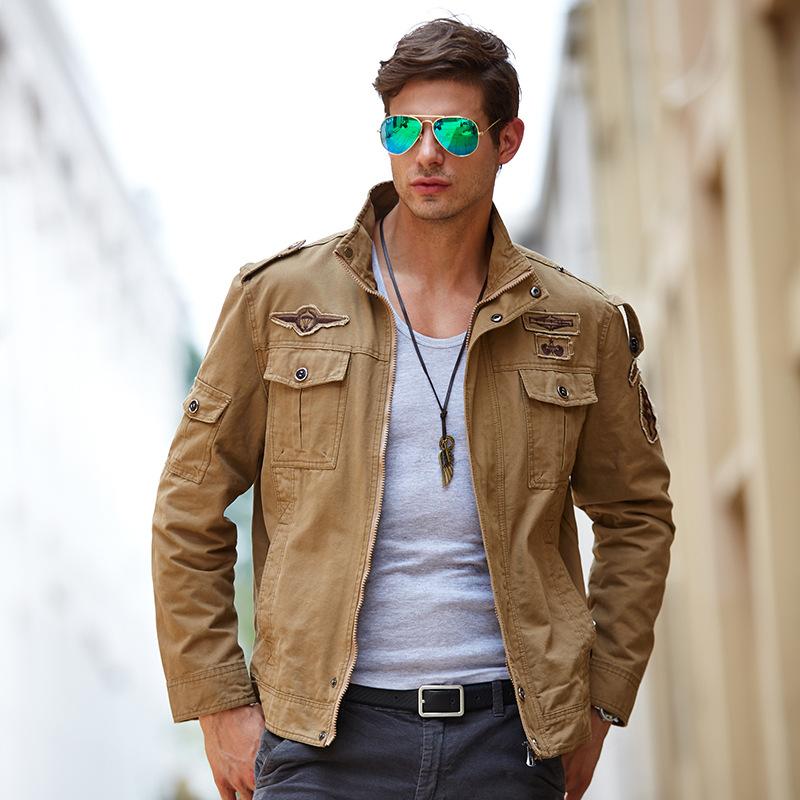 Casual Mens Army Jackets Plus Size M-6XL Moda de alta calidad para hombre Abrigos Prendas de abrigo Chaqueta de bordado