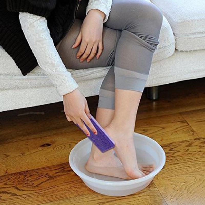 Pu Pedicure Pé Moagem Pedra Pomes Arquivo Pé Scruber Removedor de Pele Dura Pedicure Escova Produtos de Banho Cuidados Com Os Pés Ferramenta SH190727