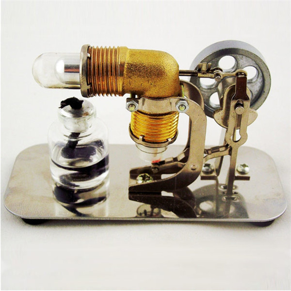 Stirling engine birthday present Mini model puzzle Scientific experiments equipment High temperature physical toy5