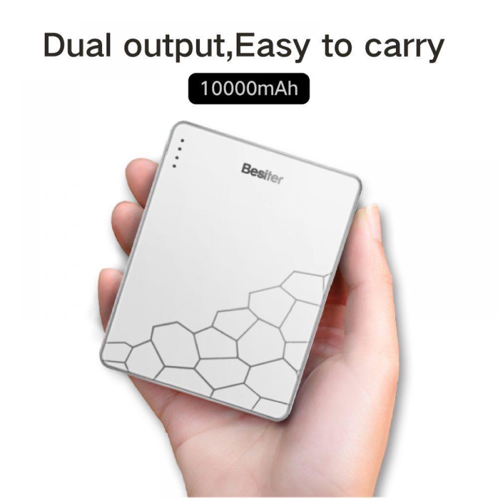 Besiter 10000mAh Charge rapide Banque d'alimentation de la batterie portable petite Poverbank Pawer Banque d'alimentation externe Batery Poverbank pour Xiaomi