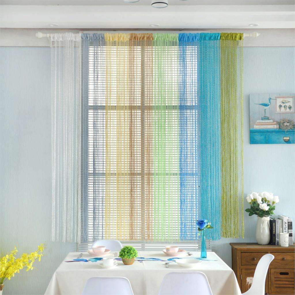 Window Treatment Romantische All-Gleiches Hochzeit Decke drapiert Weiche Multi Color Jalousie Vorhänge für Wohnzimmer Tüll Vorhang 7