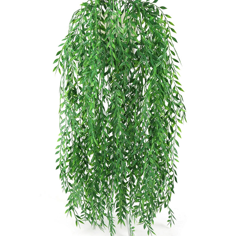 55cm Artificial Flower Hanging Willow Branch Plastic Simulation Plant Wall Decor