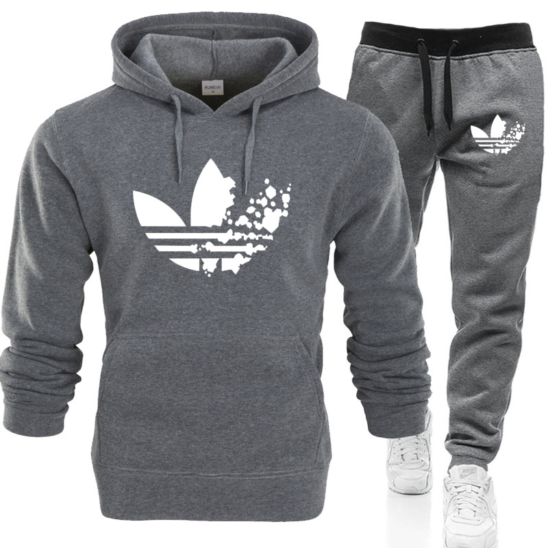 Herren LOGO Hoodies Jogginghose Joggers Trainingsanzug Patchwork Sweatshirt Hose