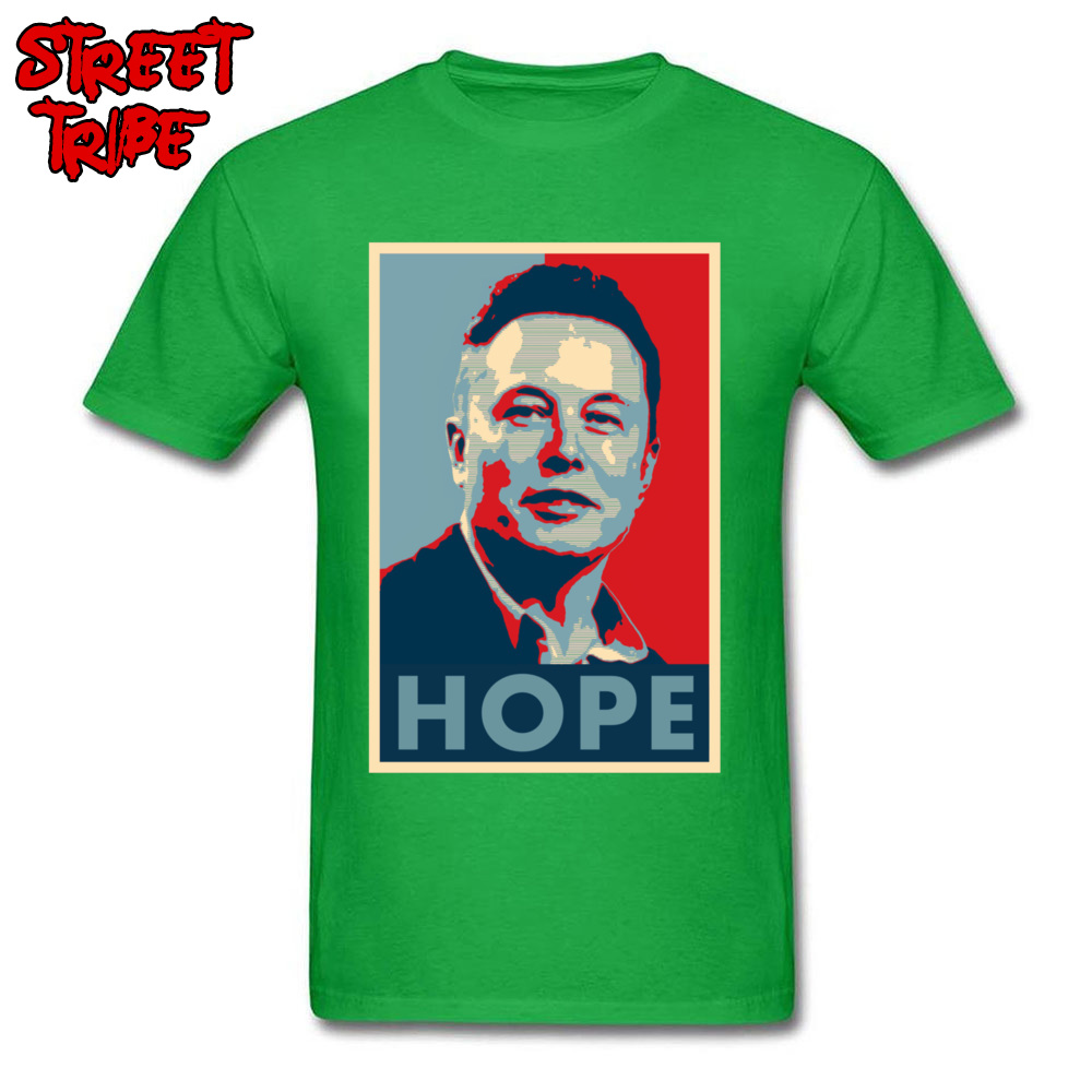 Elon Musk Hope Poster 1459 Printed On Thanksgiving Day Pure Cotton Crew Neck Mens Tops & Tees T-shirts Short Sleeve Top T-shirts Elon Musk Hope Poster 1459 green