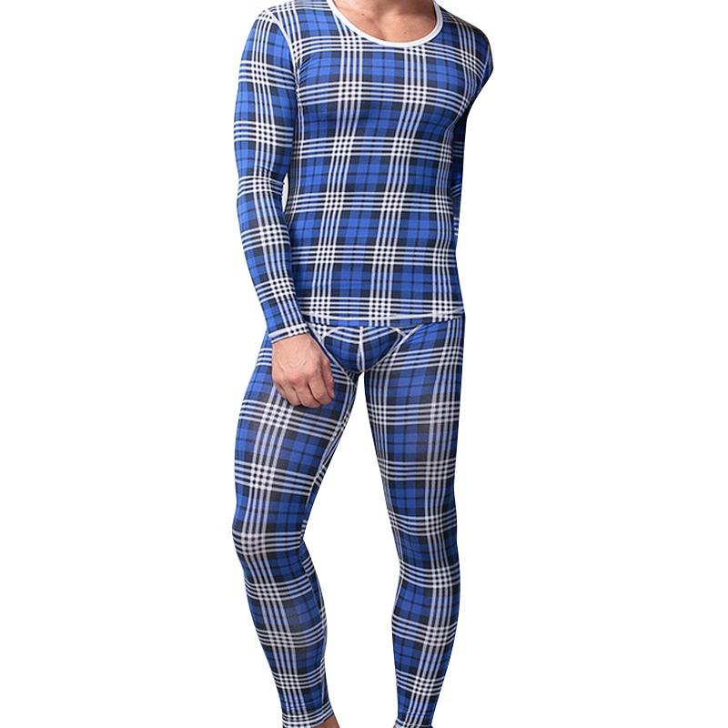 Esdy XXL thermique Survêtement Underwear Set Hommes Long Johns Haut Bas Extensible