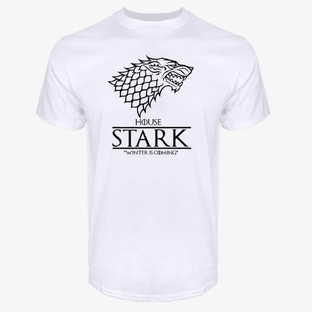 Game of Thrones Raglan Tee House Stark Letters Winter Is Coming T Shirt
