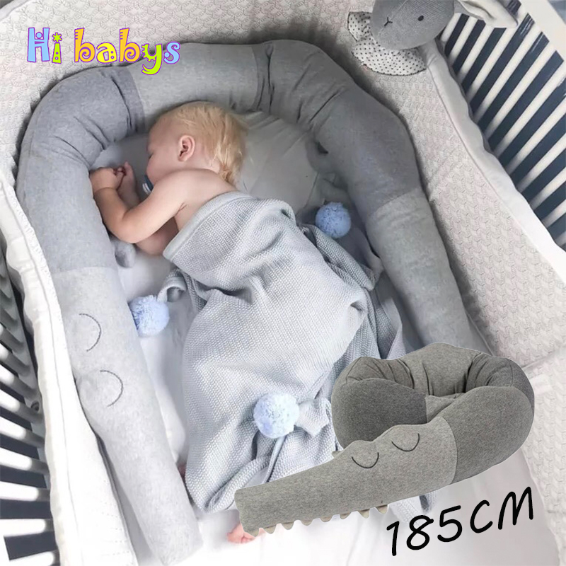 Soft Pads Braided Infant Crib Bumper Knot,Pillow Cushion Cradle Decor for Girls and Boy 118 Inch//3M, Black