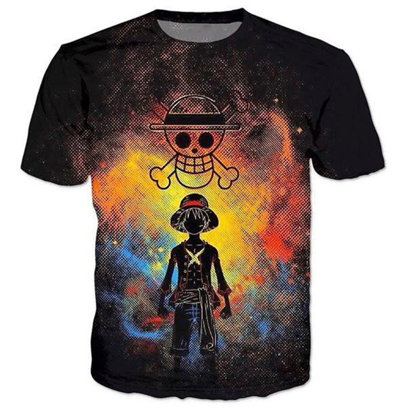One Piece T Shirt One Piece Shirt Cartoon Funny Men Hot Sale Tee Shirt Homme Casual Hip Hop Streetwear Anime 3d Tops Dropship Y19050902