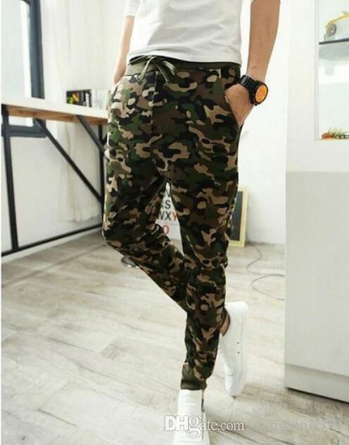 Camo baggy Joggers 2016 New Arrival Fashion Slim Fit Camouflage Jogging Pants Men Harem Sweatpants Cargo Pants for Track Training