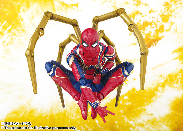 Marvel Avengers Infinity War Iron Spider Figuras de Acción Shf Normal Ver Bjd Modelo Juguetes Spiderman Ironman 14 cm Q190429
