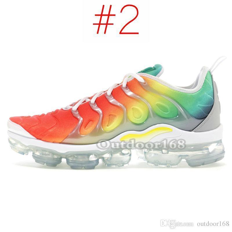 TN Plus Men Women Running Shoes Rainbow Grape Black White Wolf Grey Hyper Blue 2019 Brand Designer Shoes Sport Sneakers Size 36-45