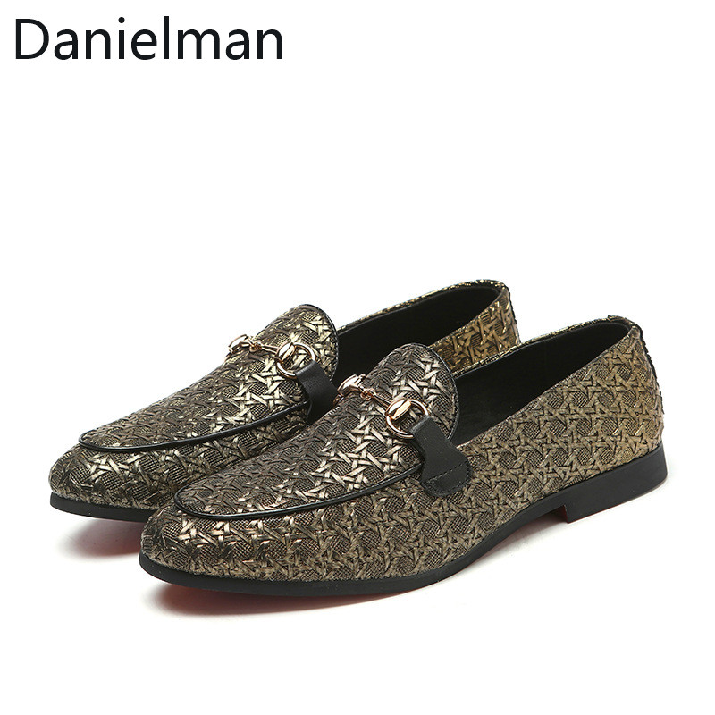 Mens Real Leather Crocodile Pattern Buckle Strap Loafers Driving Shoes Plus size