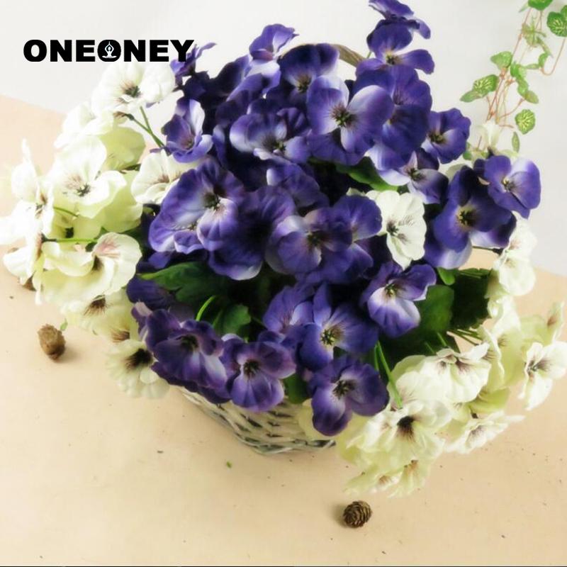 AB/_ 1x Bouquet Artificial Simulation Silk Flower Pansy Fake Plant Home Garden De