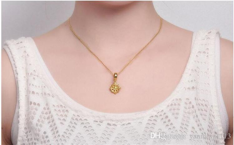 New ocean collection Rudder Pendant Chokers necklace Fashion Clavicle Jewelry For Women Valentine's Day Gift Wholesale