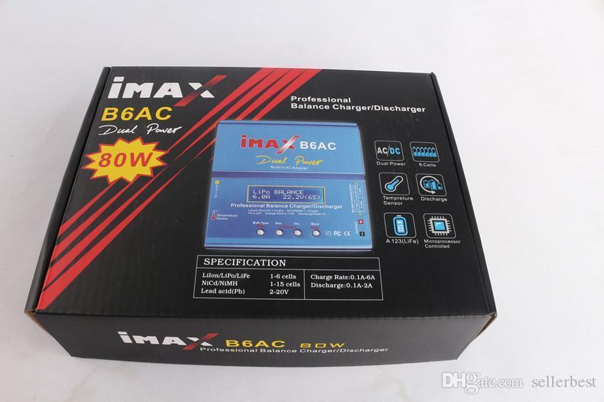 Dual Power 80W Professional iMAX B6 AC B6AC Lipo NiMH 3S RC Battery Balance Charger Discharger Adapter of RC hobby