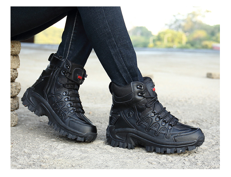 Brand Men\`s Boots Military boot Tactical Big Size Army Male Shoes Safety Combat Mens Chukka Ankle Bot Motocycle Boots (21)