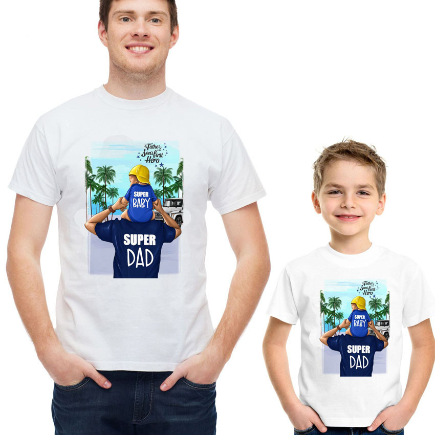 Mens Funny T-Shirt Father/'s Day Dad Daddy Father And Son Football Evolution