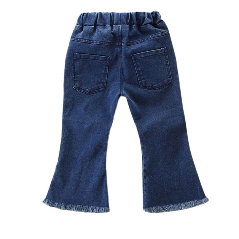 Winter Kids Girls Clothes Girls Pants Toddler Children Kids Baby Girls Floral Flare Denim Pants Casual Trousers Clothes S25#F (4)