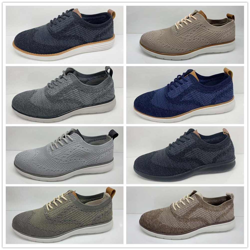 mens classic fashion Casual Shoes lace-up breathable oxford shoes