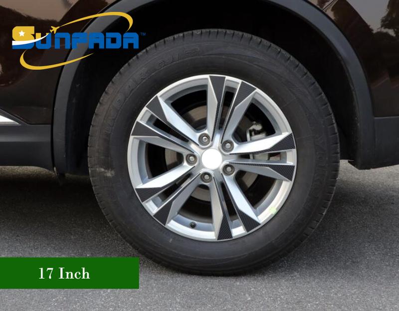 Ancher 4.44 Carbon Fiber Rearview Mirror Anti-Collision Strip Protector Trim Sticker Cover for BMW Audi Benz