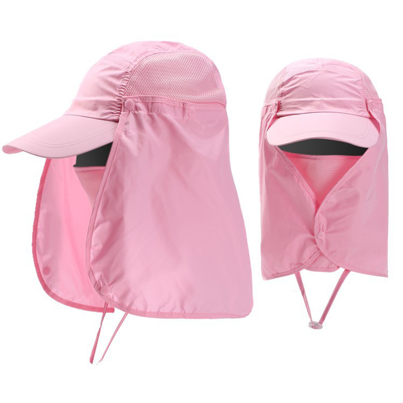 Quick Drying Sun Protection Baseball Cap Women Men Removable Neck Flap Face Cover Mask Cap Unisex Outdoor Fishing Hat