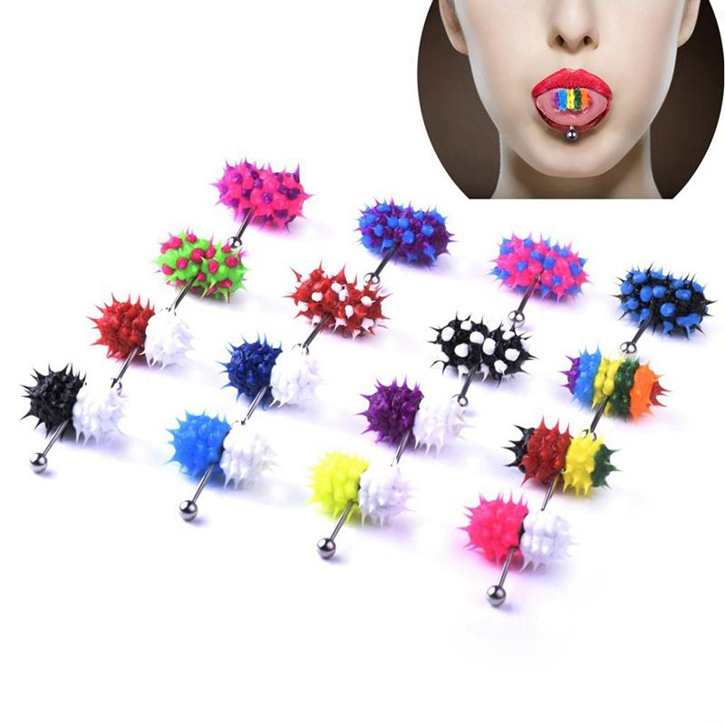 Fashion MultiColor Vibrating Tongue Bar Ring Stud Body Piercing Jewelry+Battery