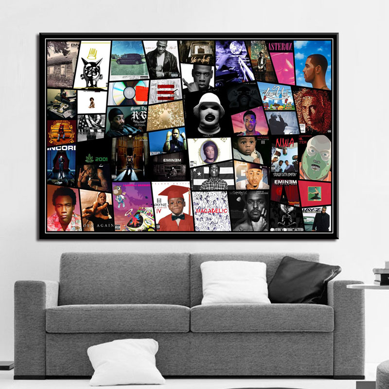 Hot Rap Music Star Eminem Art Silk Canvas Poster 13x20Inch Print For Decor