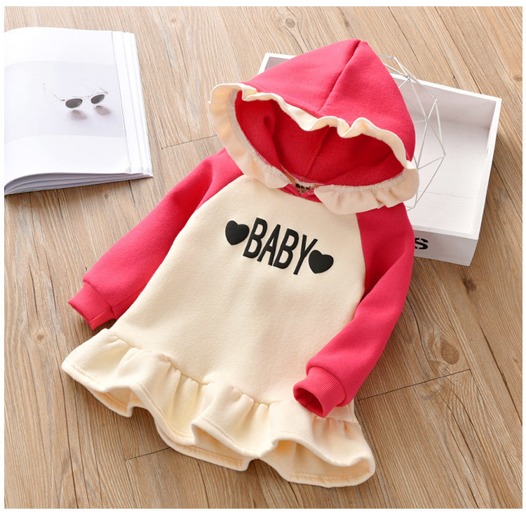 good quality Girl Kids Sweater 2019 2-7Y Toddler Girls Casual Long Sleeve Pleated Tops Thicken Pullover sweat shirts Warm Long Style