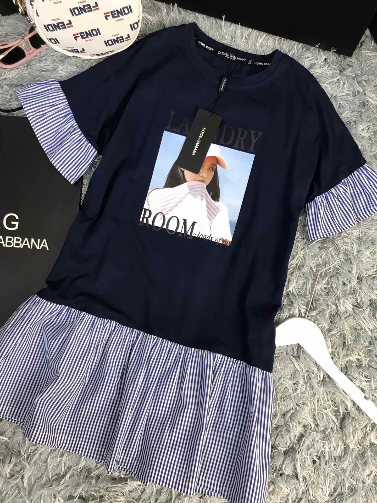 2019 novos vestidos de verão crianças roupas de marca meninas vestido de bebê roupas de menina crianças vestido de algodão Casual babados mangas meninas boutique outfits