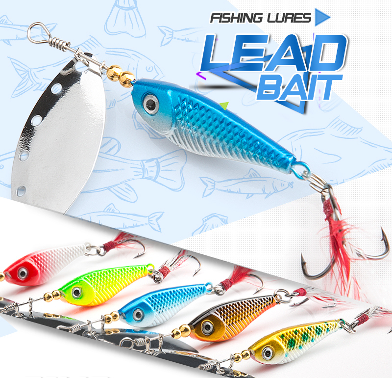 DONQL Spinner Metal Spoon Fishing Lure 13g 16g Sequin Artificial Wobbler Fishing Bait With Strong Treble Hooks Mepps Lures (10)