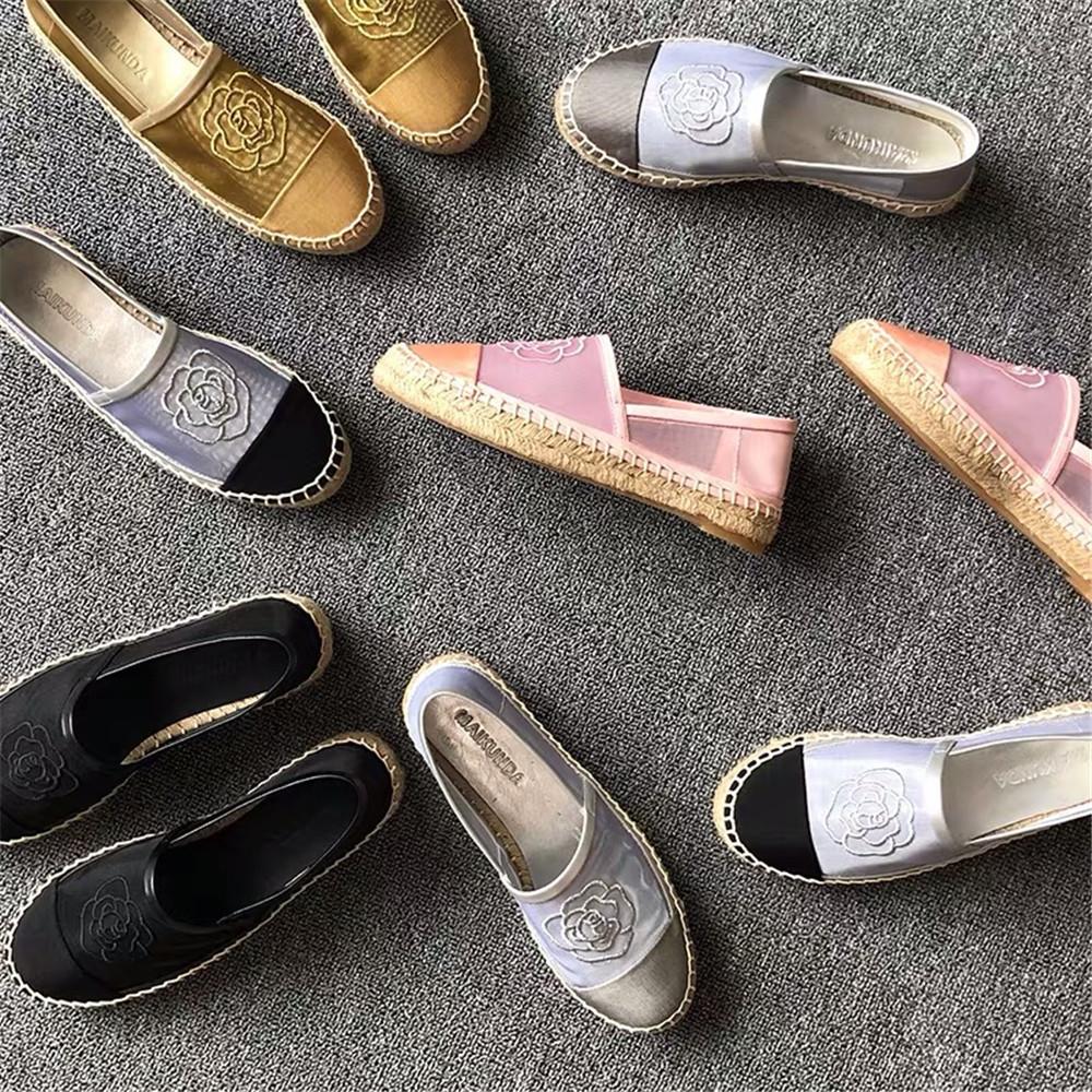 Espadrillas da donna Designer di marca Donna Pizzo Pescatore Robusto Slip-on Mocassini casual Scarpe casual comode