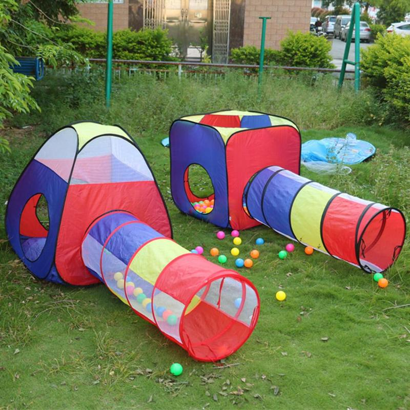 Baby Game House Tent for kids FoldableToy Children plastic House Game Play Inflatable Tent Yard Ball Pool Chilren's Crawl Tunnel
