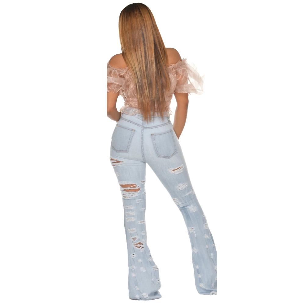 New Design fashion women Blue Color Jean Boot Cut Pants Casual Street Lady Long Denim Pants Sexy Club Wide Leg Jeans (29)