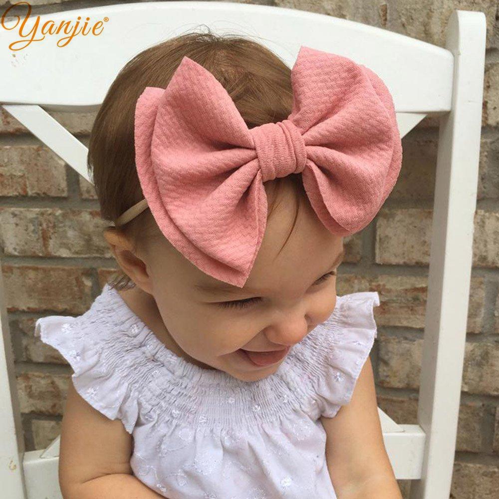 20 pcs//lot Fille Cheveux Serre-tête nœud élastique Bandeaux nouveau-né Infant Toddler annulation