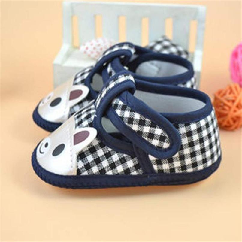 Newborn Girl Boy First Walker Soft Sole Crib Toddler Shoes Canvas Sneaker NDA84L16 (3)