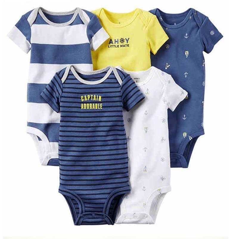 2018 Spring Autumn short Sleeve 5pcs, 4pcs of set Original bebes Baby Boy Girl clothes set Newborn Bodysuit kids Clothing
