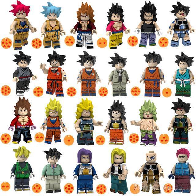 8PCS Son Goku Son Gohan Torankusu Tien Shinhan Mini Figur DRAGON Spielzeug