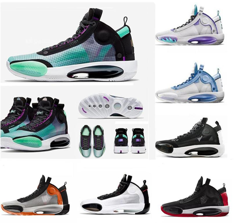34 Eclipse Men neige chaussures de basket ball Leopard 34s Ambre bleu Hausse de vide chaussures vertes de sport d'argent brillant en métal noir 40 46