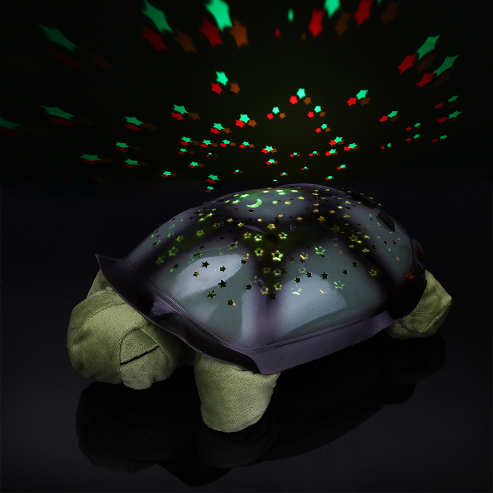 Coquimbo Sleeping Turtle Luz Do Berçário Com Música Do Bebê Usb Alimentado Plush Nightlight Projetor Estrela Quarto Night Lamp Q190611
