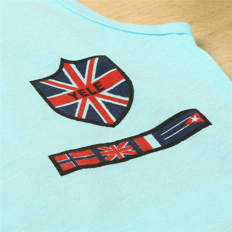 2PCS Boys Sets Kids Baby Boys Union Jack Print Sleeveless Vest Tops+Print Shorts Set Boys Clothes Suit For 2-6T Baby M8Y09 (5)