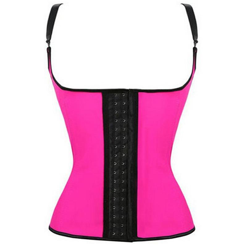 100% Latex Waist Cincher Shapewear Vest Waist Trainer Body Shapers Steel Bone Corsets Slim Belt Underbust Cinta Modeladora