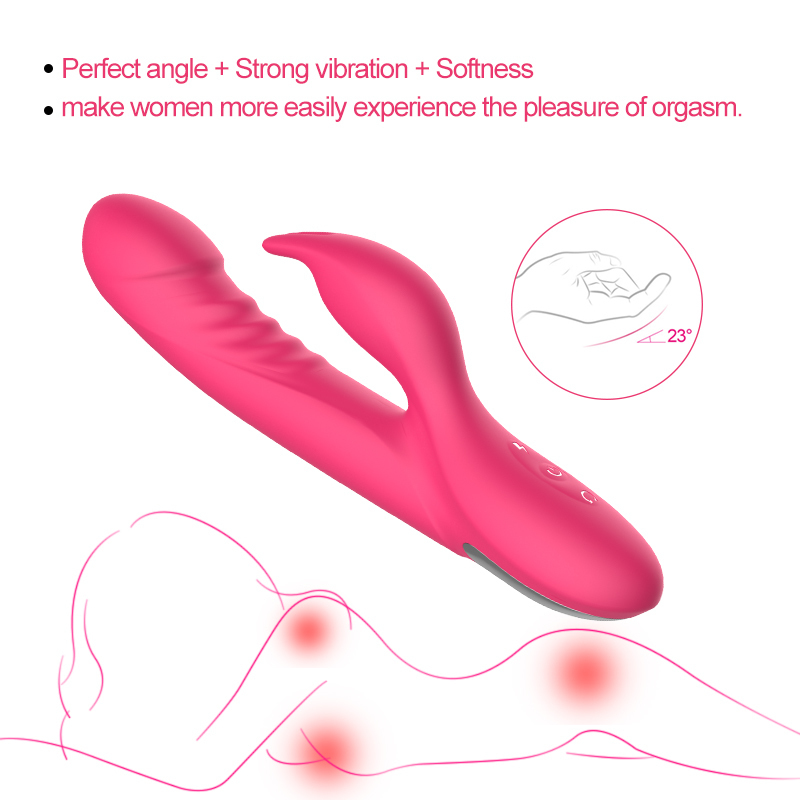 Powerful Rotating Dildo Vibrator Sex Toys For Women Masturbation Silicone Erotic Toys Rabbit Vibrator G Spot 7 Multi-speed Y19062702