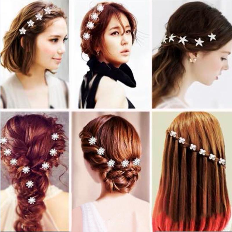 Women/'s Girls Hair Clip Imitation Pearl Hairpin Barrette Hair Clips Grip 6Pcs