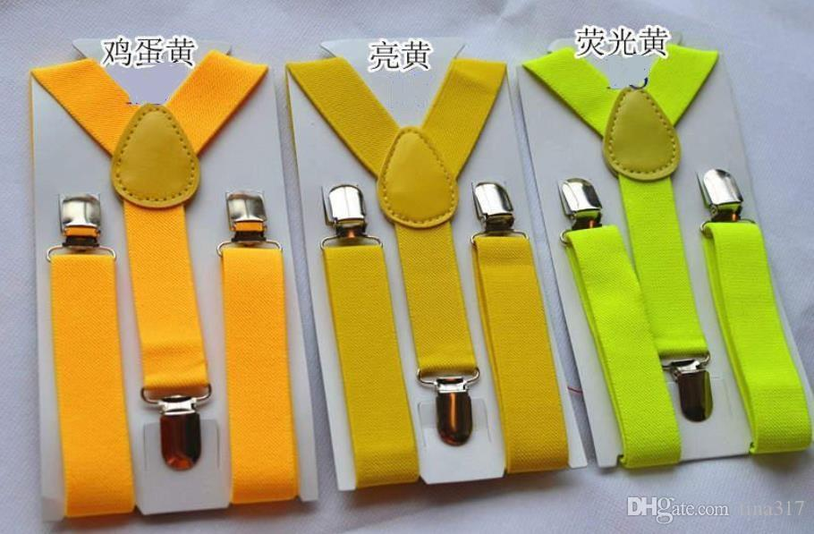 Wholesale Children Clip-on Adjustable Elastic Pants Y-back Suspender Braces Belt children Black BOYS/GIRLS Suspender 0382