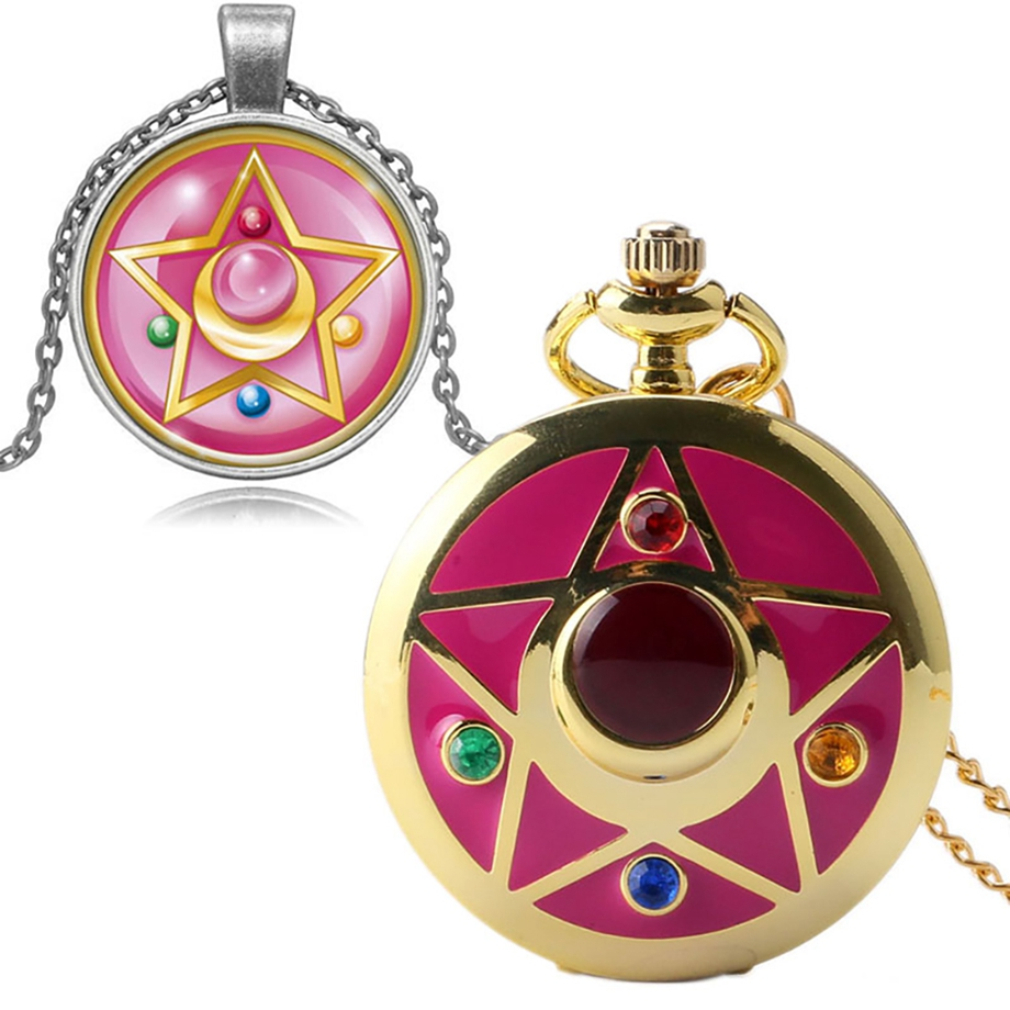 Luxury Women Pocket Watch Open Face Roman Numbers Fobs Watch Necklace Chains Clock Pendant Christmas Gifts for Friend